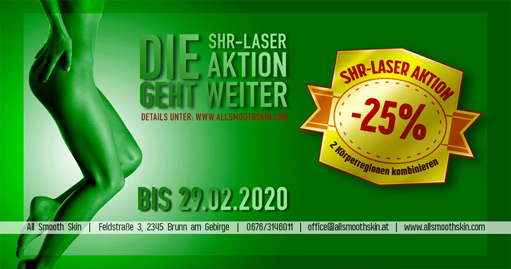 All Smooth Skin SHR-Laser Aktion 2019-2020 Winter